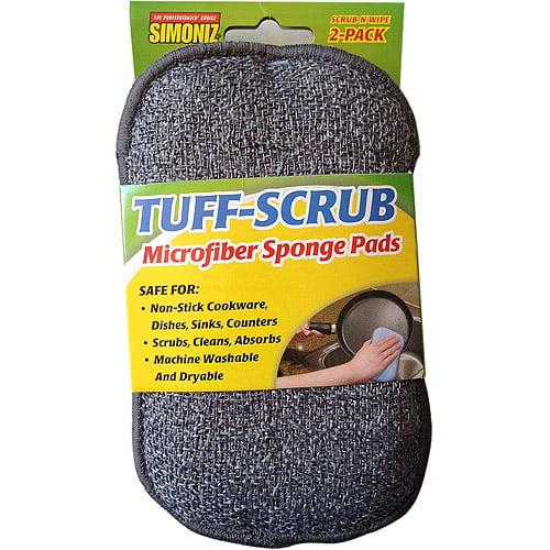 Simoniz Tuff-Scrub Microfiber Sponge Pads, 2 count