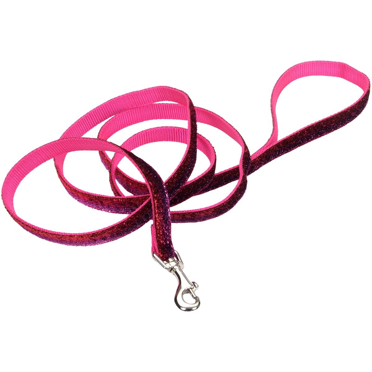 "Pet Attire 5/8"" Sparkles Dog Leash 6'-Pink"