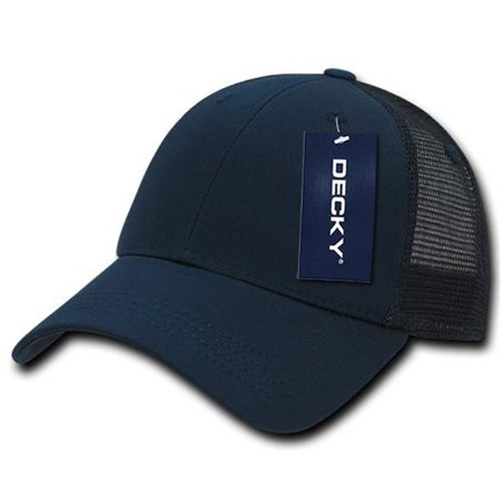 Decky 214-NVYNVY Low Crown Mesh Golf Cap, Navy & Navy - image 1 de 1