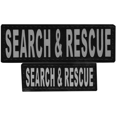 Search & Rescue Removable VELCRO Patches, Large/X-Large, Removable/Interchangeable Velcro patches By Dogline from USA