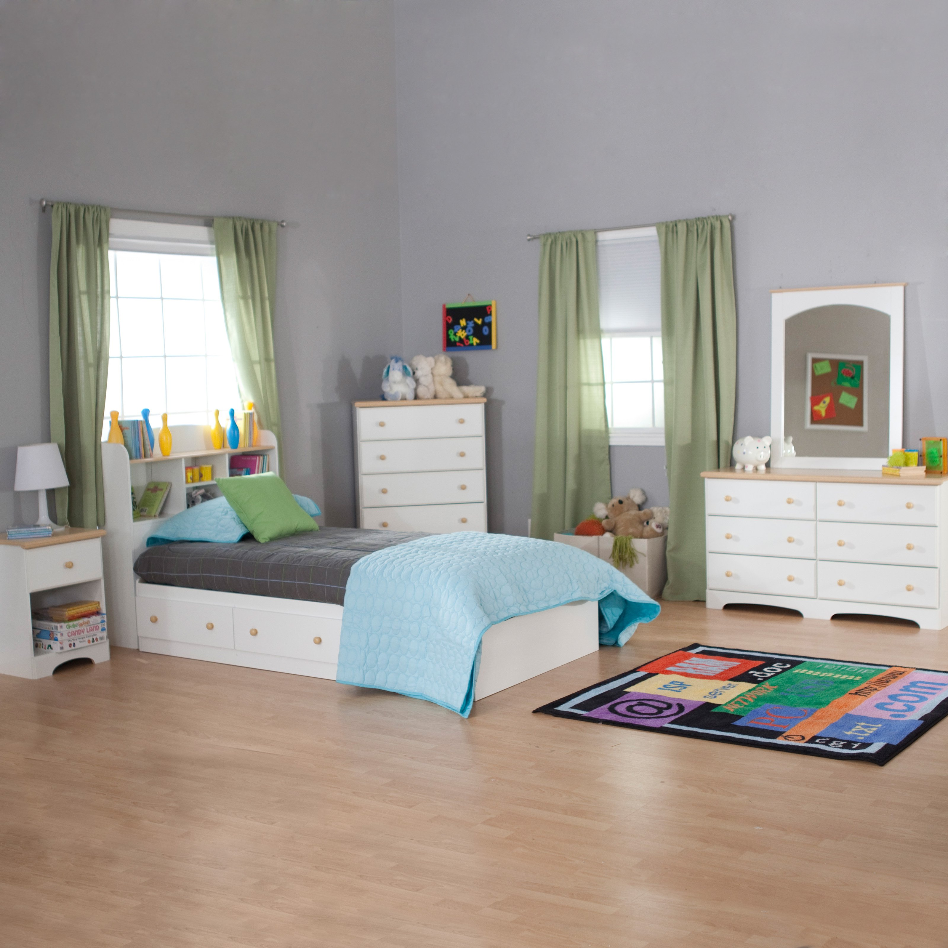 South Shore Valentina Twin Bookcase Bed Collection Walmart Com