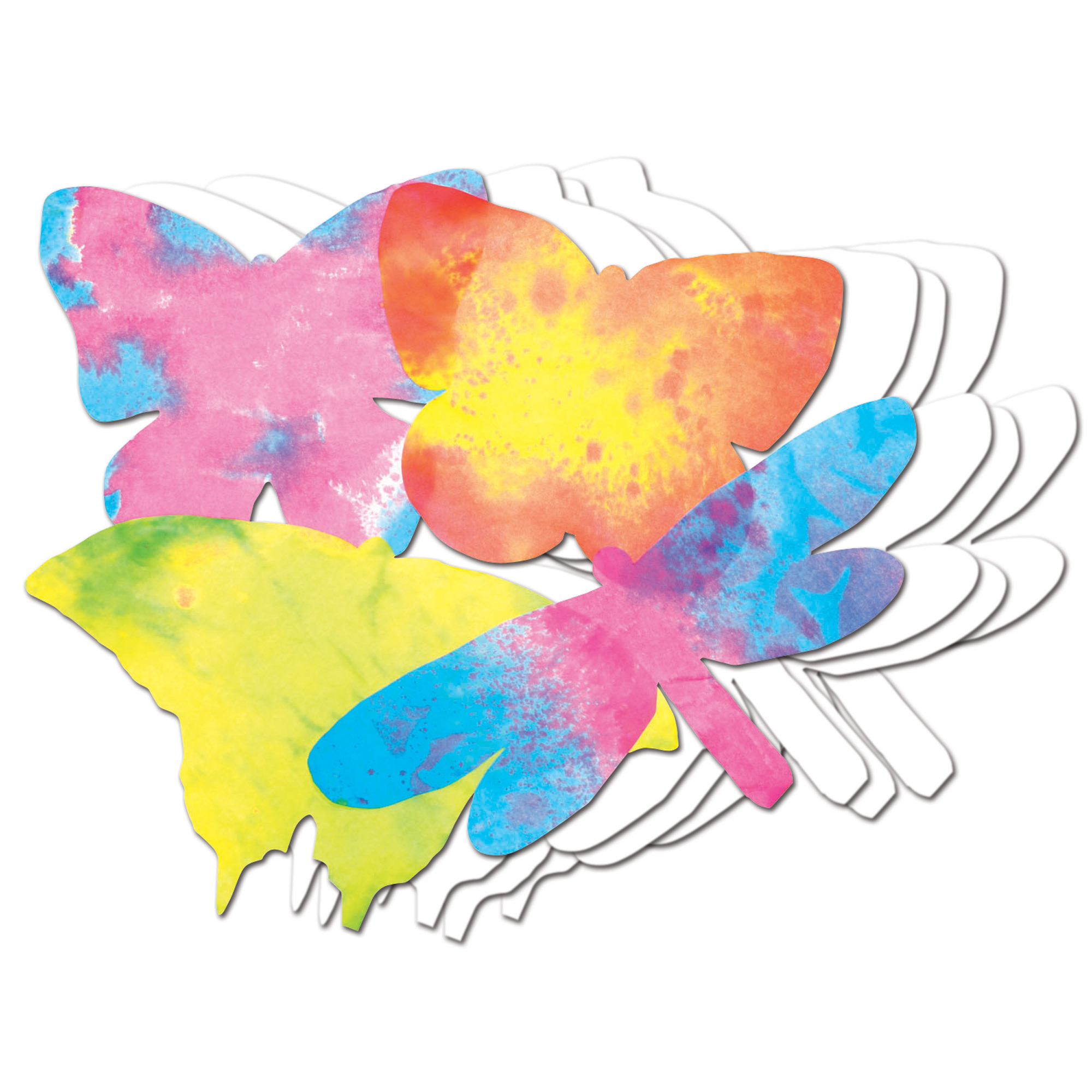 "Roylco® Color Diffusing Paper Butterflies, 9"" x 7"", 48 per pack, Set of 3 packs"