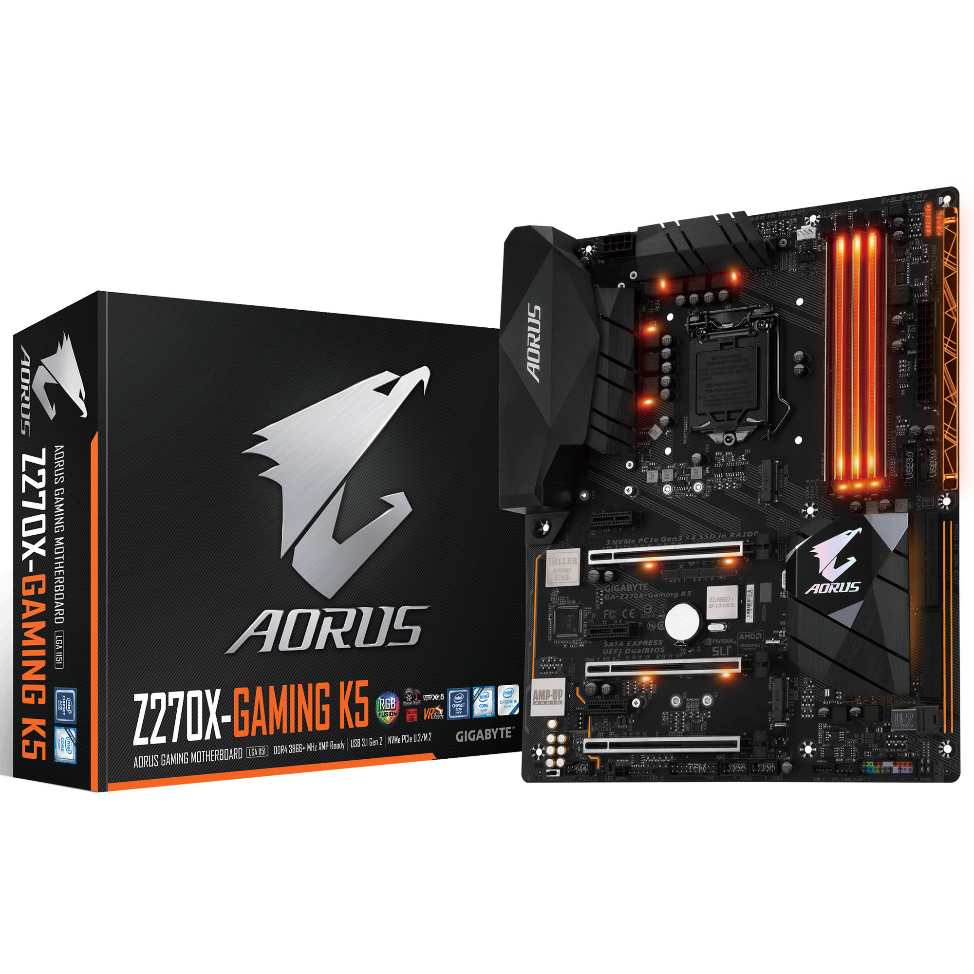 GIGABYTE Aorus GA-Z270X-Gaming K5, Intel 7th Gen Kabylake, RGB Fusion, Smart Fan 5