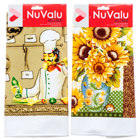 New 363805  Kitchen Towel W / Printed 3 Asst Design (24-Pack) Table Cover Cheap Wholesale Discount Bulk Kitchenware Table Cover](Cheap Linens)