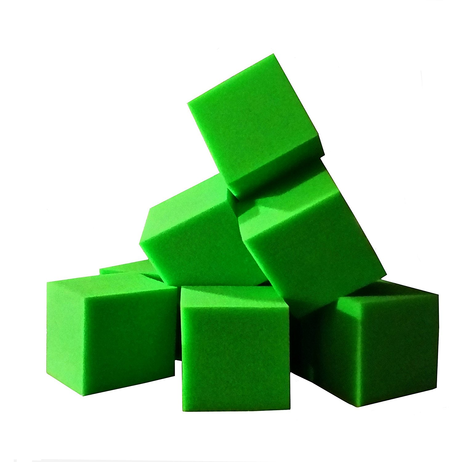 "Foam Pits Cubes/Blocks 68 pcs. (LIME GREEN) 8""x8""x8"" (1536) Flame Retardant Pit Foam Blocks For Ninja Obstacle Course, Skateboard Parks, Gymnastics Companies, and Trampoline Arenas"