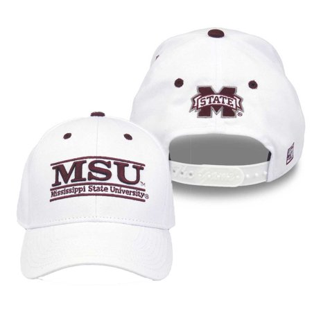 Mississippi State Bulldogs Adult Game Bar Adjustable Hat - White
