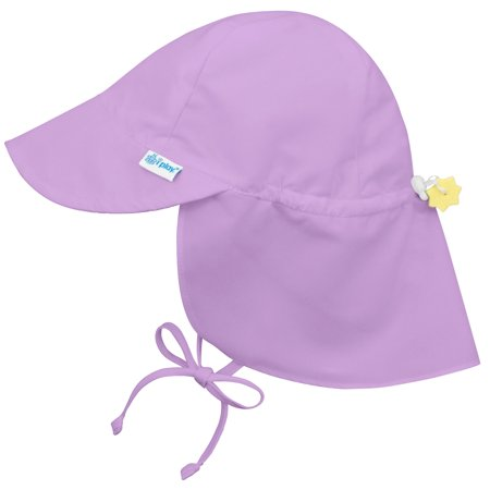 Lavender 9 Months - Iplay Flap Sun Hat for Baby Girls Sun Protection Large Billed Hat- Solid Lavender Purple Newborn 0-6 Months Baby Girl Hat Is Adjustable To Fit Outdoor Hat With Chin Strap and Neck Flap; Cute Swim Hat