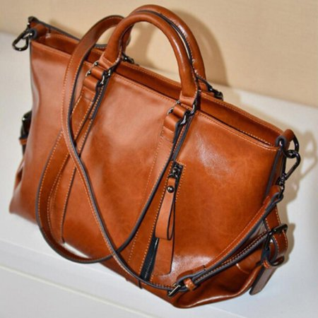 Sawpy Fashion Women's handbag Handbag Lady Shoulder Bag Tote Purse Oiled Leather Women Messenger New Boston Tote Bag Purse