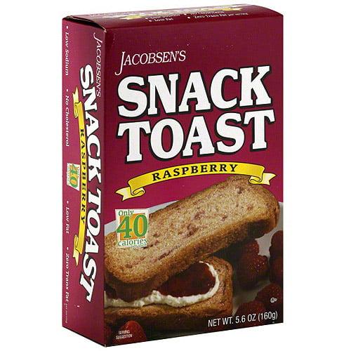 Jacobsen's Raspberry Toast, 5.6 oz (Pack of 6)