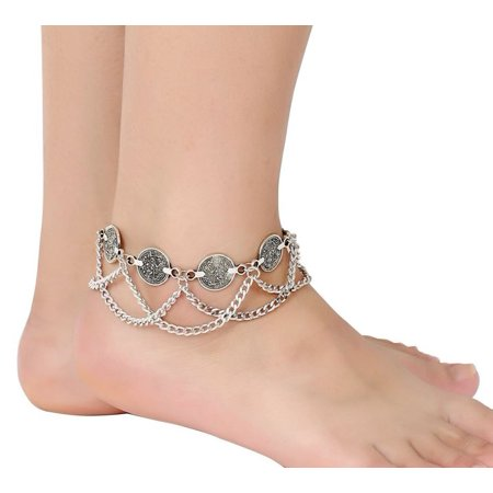 Hip Shakers Belly Dance Bohemian Gypsy Hippie Anklet Foot Wrist Jewelry Dangling