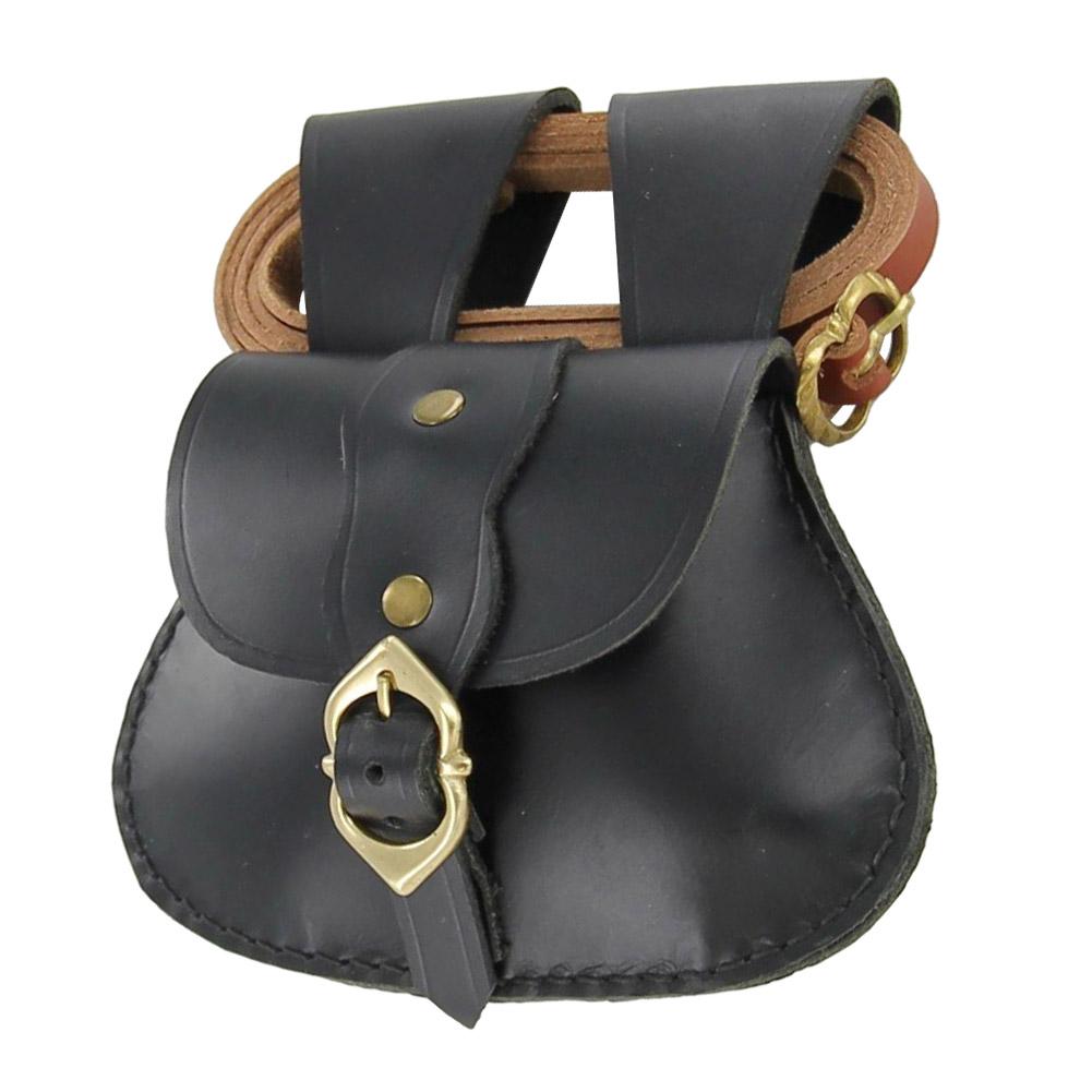 Medieval Renaissance Elegant Leather Pouch /& Belt Set
