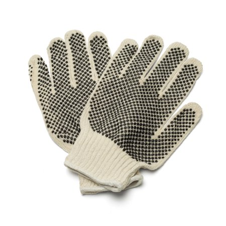 - Industrial Grade PVC Double Dot Gloves for Men's Size 12 Pairs