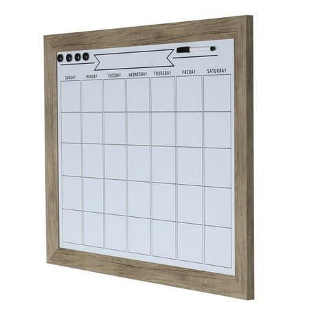 Designovation Beatrice Framed Magnetic Dry Erase Monthly