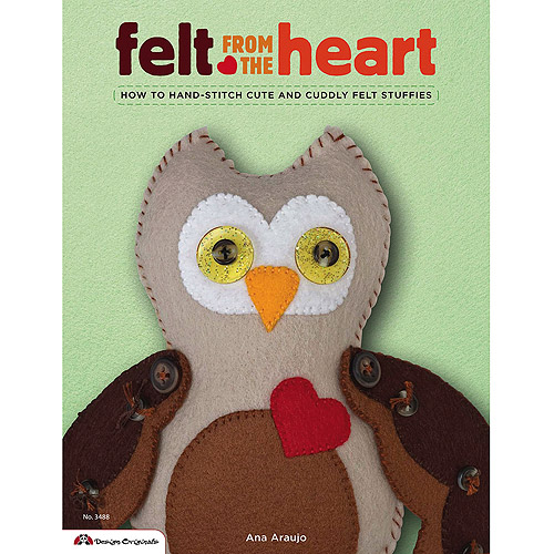 Design Originals Felt from The Heart Book Multi-Colored