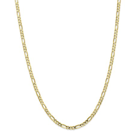 Figaro Rope (10k 4mm Light Concave Figaro Chain Necklace - Length: 16 to 24)