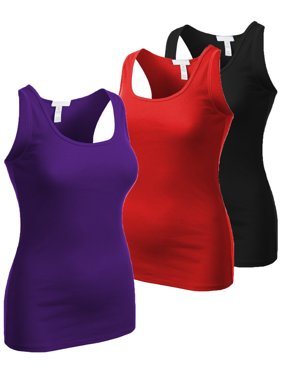 508df9fbea5b2f Product Image Essential Basic Women s Active Racerback Ribbed Tank Top Shirt  - Junior and Plus Sizes