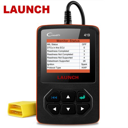 Launch CR419 OBD2 Scanner Check Engine Light Code Reader Clear Fault Codes Emission Smoke O2 Sensor Test Turn off MIL VIN Freeze Frame OBD 2 Automotive Diagnostic Scan (Pass Smog Test With Check Engine Light)