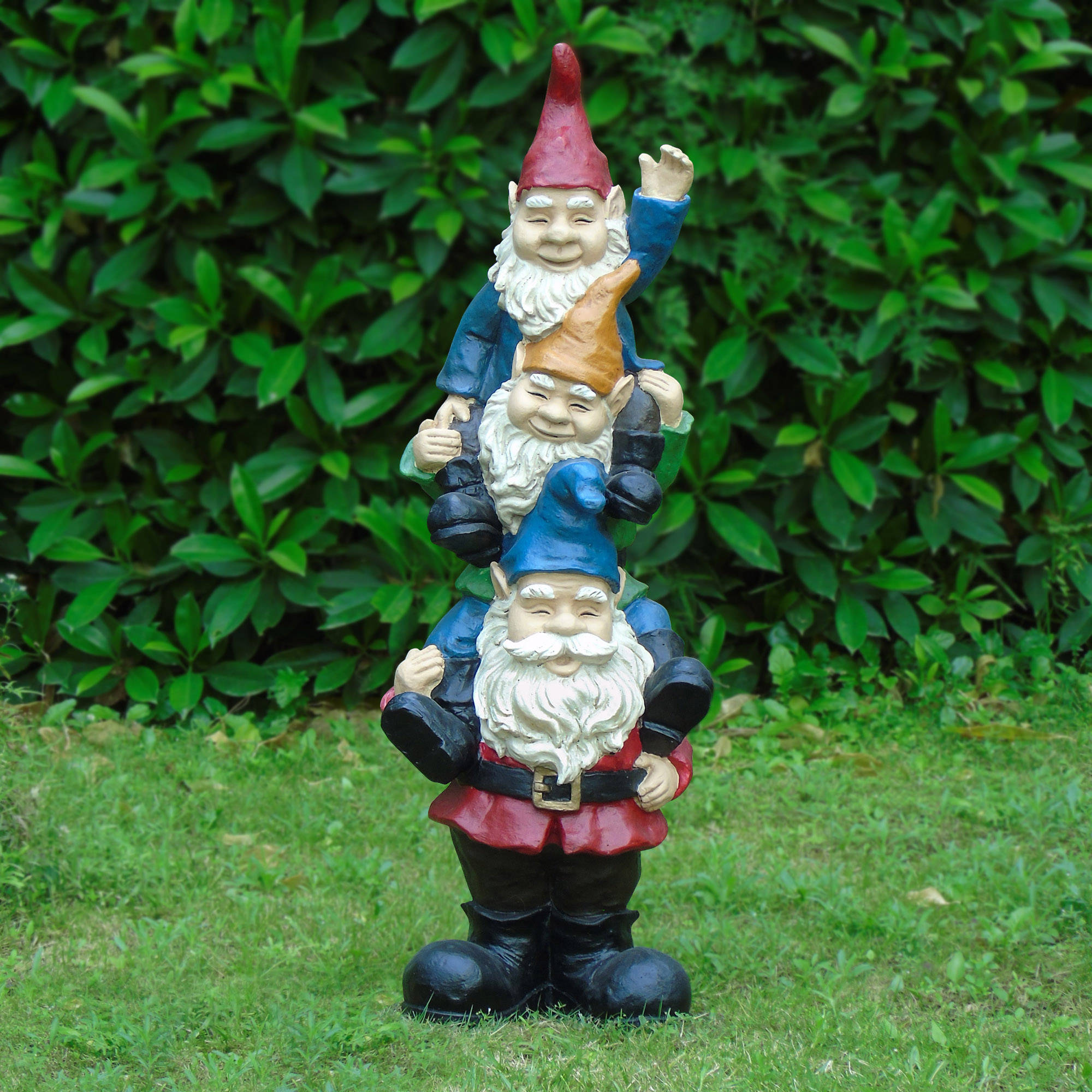 Almost 3ft Stacked Gnomes by D.A.K. INDUSTRIAL CO.,LTD