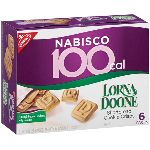 Nabisco 100 Calorie Packs Lorna Doone Shortbread Shortbread Cookie Crisp, 6ct