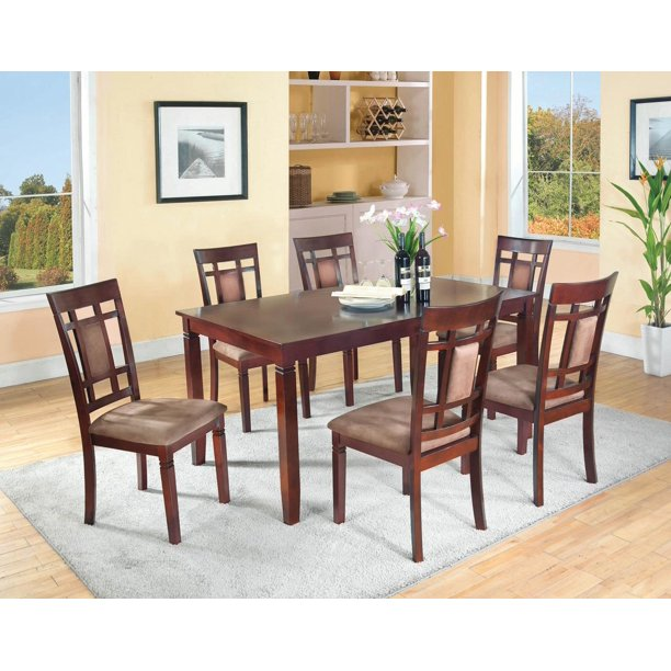 home source dining table  6 side chairs  mahogany
