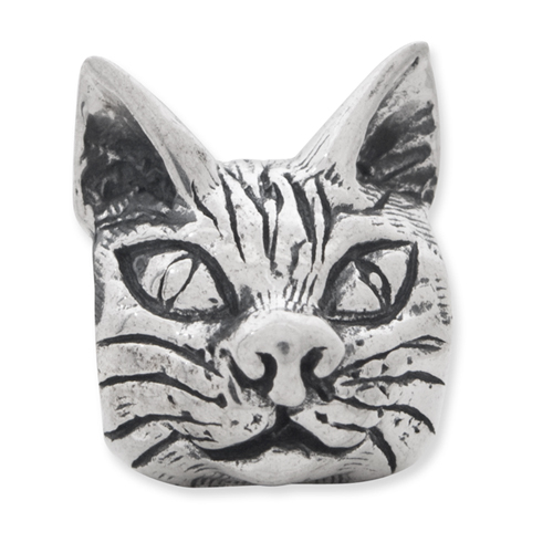 925 Sterling Silver Charm For Bracelet Maine Coon Cat Head Bead Animal Fine Jewelry Gifts For Women For Her - image 2 de 4