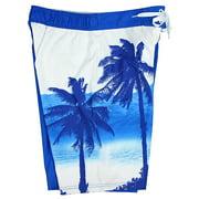 78d3294653bc1 Corona Extra Bottle Label & Palm Trees Men's Blue Swim Board Shorts Image  ...