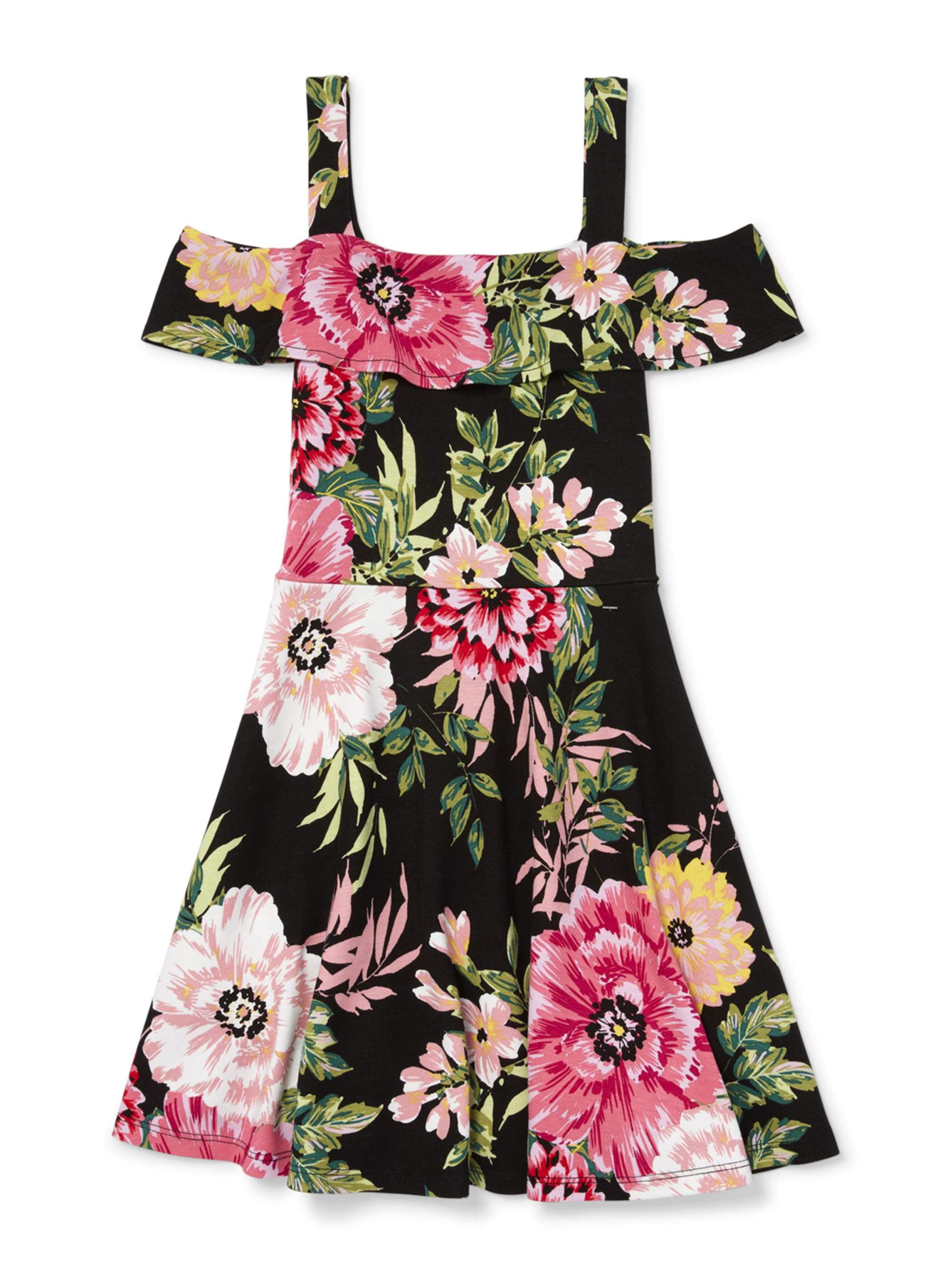 Floral Cold Shoulder Dress (Big Girls)