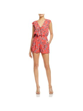 13027d813088 Product Image Cupcakes and Cashmere Womens Fitz Floral Tie Neck Romper