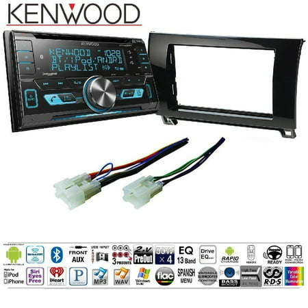 Kenwood Excelon DPX793BH Double Din CD Receiver with Built in Bluetooth HD Radio Car Radio Gloss Black Dash Kit Harness for 2007-2013 Toyota Tundra Sequoia (2001 Toyota Sequoia Cd Player)