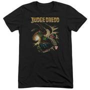 Judge Dredd Blast Away Mens Tri-Blend Short Sleeve Shirt