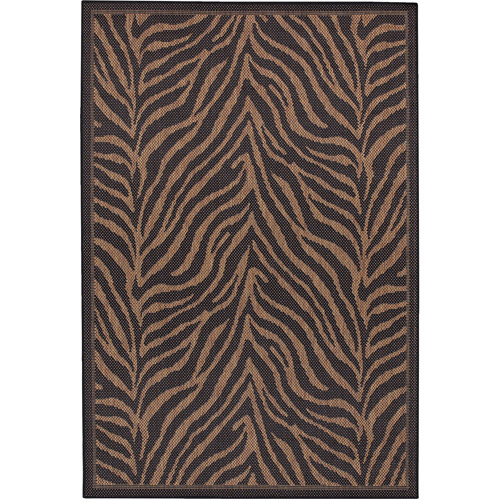 "Equus Indoor/Outdoor Rug, 3'9"" x 5'5"", Black-Cocoa"