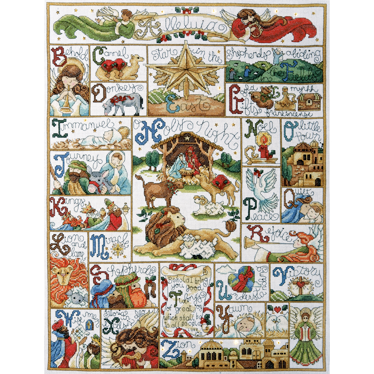 "Oh Holy Night Counted Cross Stitch Kit, 16"" x 21"", 14-count"