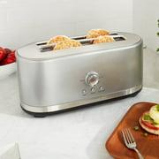 KitchenAid KMT4116CU Contour Silver 4 Slice Long Slot Toaster with High Lift Lever - 120V