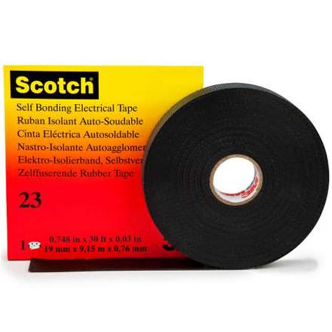 Scotch T964023 0.75 in. x 30 ft. Black 23 Electrical Tape...