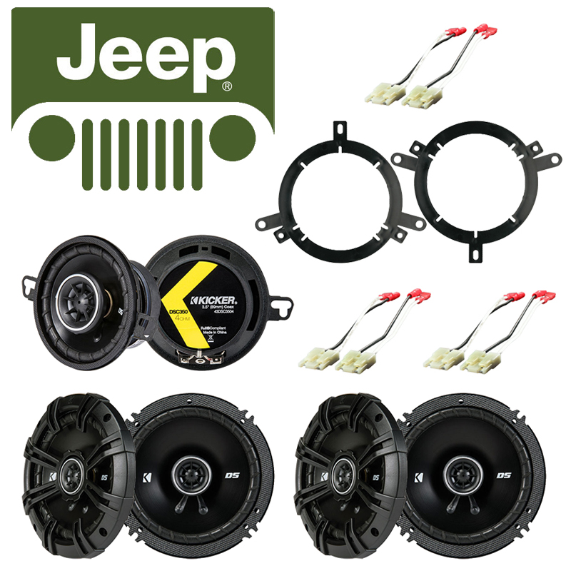 Fits Jeep Grand Cherokee 1996-1998 Speaker Replacement Kicker DS Series Package by Kicker