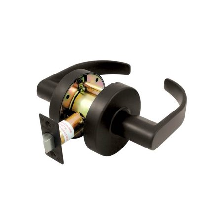 Commercial Lock (Grade 2 Commercial Curved Standard Passage Lock w Cylinder (Brushed Chrome) )