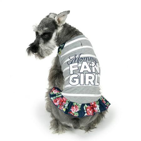 vibrant life fan girl tank dog dress x small. Black Bedroom Furniture Sets. Home Design Ideas