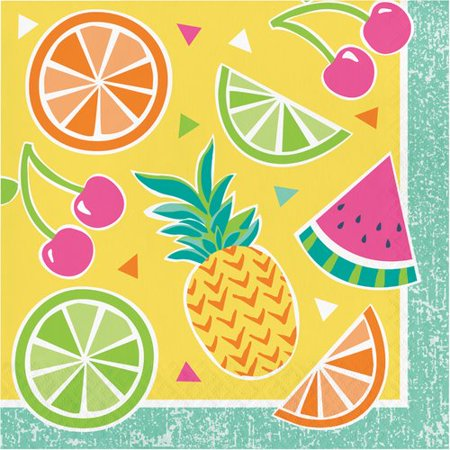 - The Party Aisle Fruit 5'' Napkin (Set of 48)