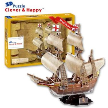 Mayflower Pilgrim Sail Ship Boat 3 D Model Kit
