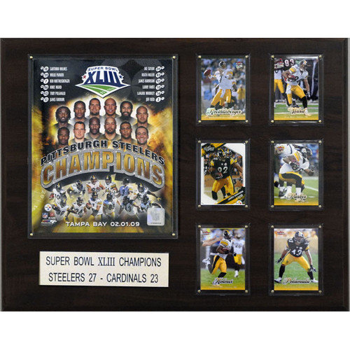 C & I Collectibles NFL Pittsburgh Steelers Super Bowl XLIII Champions Plaque