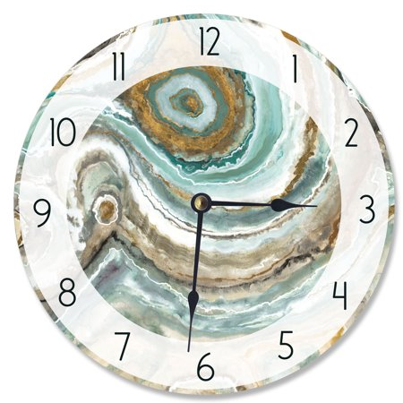 Horizon Copper Clock (The Stupell Home Decor Collection Abstract Geode Teal and Copper Vanity Clock )