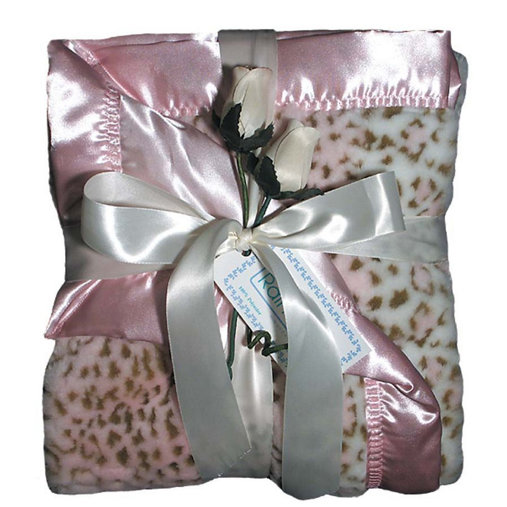 "Raindrops Baby Girls Faux Fur Receiving Blanket, Pink, 28"" X 36"" by Raindrops"