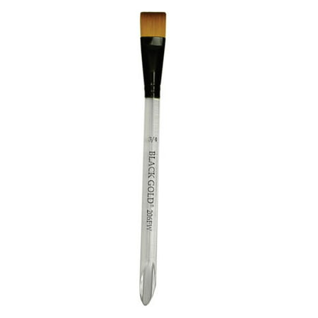 Dynasty Black Gold Brush - Flat Wash, Short Handle, Size 1/4