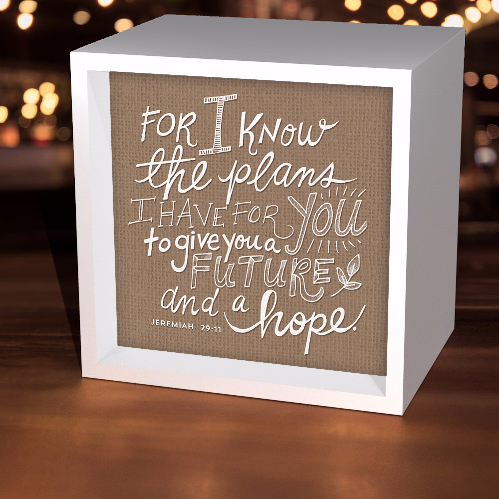 Light Box-For I Know The Plans (5-5/8 Square)