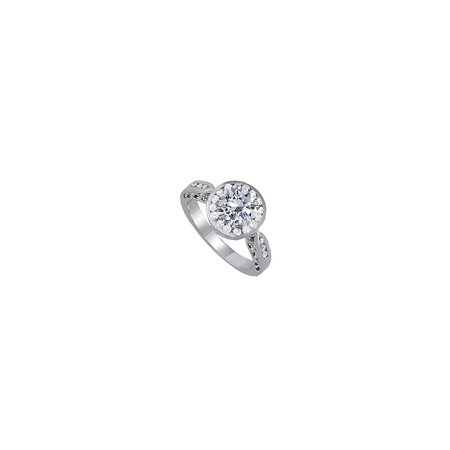Beautiful Channel Set CZ Accents Ring in 14K White Gold with Best Price Range Cool