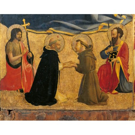 Madonna And Child With Sts John The Baptist Canvas Art - (24...