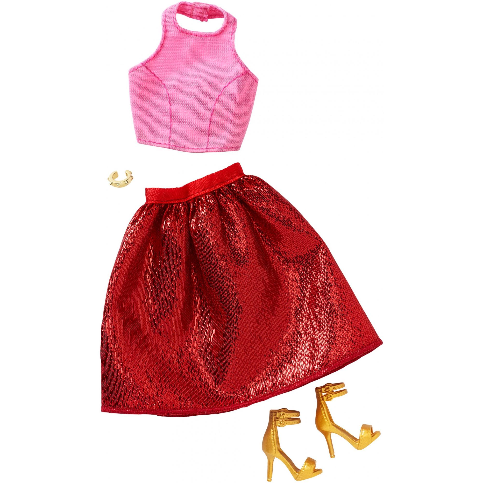 Barbie Fashions 1 Tall Red Skirt Pack