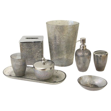 paradigm trends 8 piece lava grey bathroom accessories set