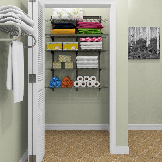 ClosetMaid ShelfTrack 4 Ft Wire Shelf Kit