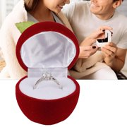 LYUMO Wedding Ring Box Container Earrings Proposal Jewelry Holder Storage Case Ring Container Red